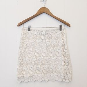 White lace Zara skirt NWT size XS